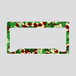 Ladybugs and Ivy on yellow License Plate Holder