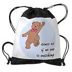 Dancing Teddy Bear Drawstring Bag