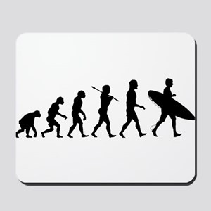 Human Surfer Evolution Mousepad