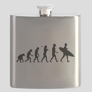 Human Surfer Evolution Flask