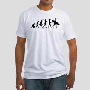 Human Surfer Evolution Fitted T-Shirt