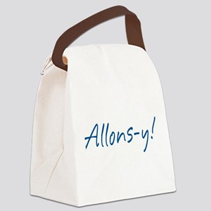 French Allons-y Canvas Lunch Bag