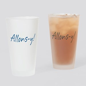 French Allons-y Drinking Glass