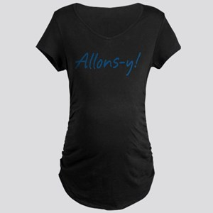 French Allons-y Maternity Dark T-Shirt