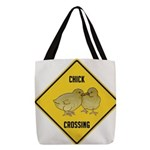 crossing-sign-chick Polyester Tote Bag