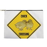 crossing-sign-chick Makeup Pouch