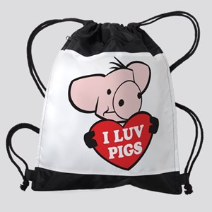 FIN-i-love-pigs Drawstring Bag
