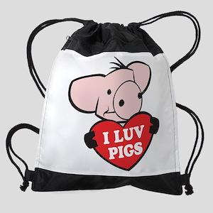FIN-i-love-pigs Drawstring Bag