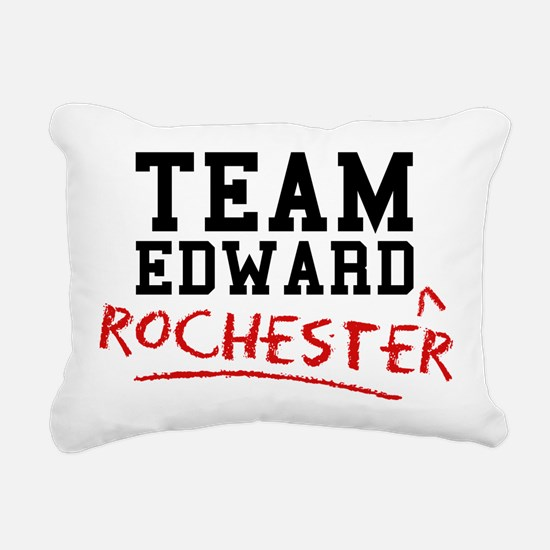 Team Edward Rochester Rectangular Canvas Pillow
