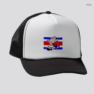costa-rica-soccer-pig Kids Trucker hat