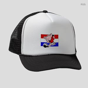 croatia-soccer-pig Kids Trucker hat