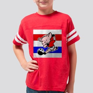 croatia-soccer-pig Youth Football Shirt