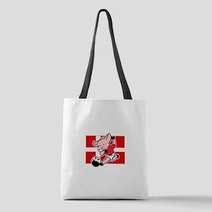 denmark-soccer-pig Polyester Tote Bag
