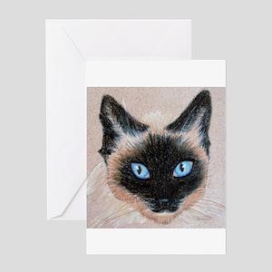 Wedgehead Siamese Greeting Card