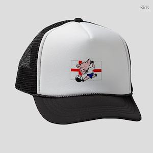 england-soccer-pig Kids Trucker hat