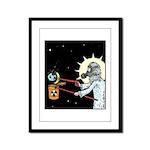 Nuclear Earth Framed Panel Print