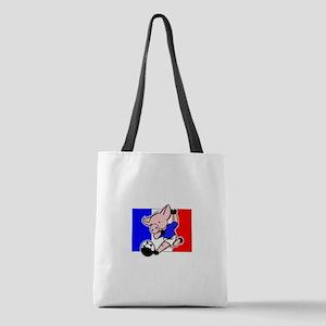 france-soccer-pig Polyester Tote Bag