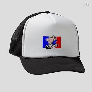 france-soccer-pig Kids Trucker hat