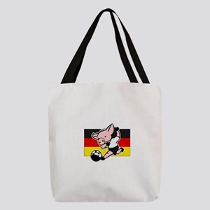 germany-soccer-pig Polyester Tote Bag