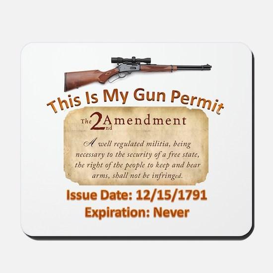 My Gun Permit Mousepad