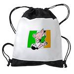 ireland-soccer-pig Drawstring Bag