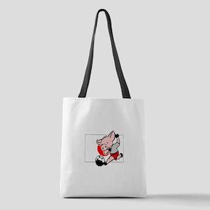 japan-soccer-pig Polyester Tote Bag