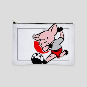 japan-soccer-pig Makeup Pouch