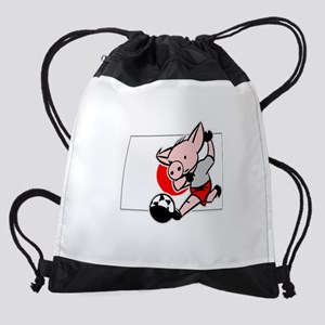 japan-soccer-pig Drawstring Bag