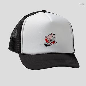 japan-soccer-pig Kids Trucker hat
