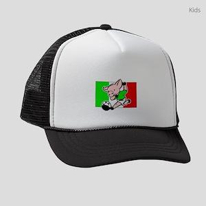 mexico-soccer-pig Kids Trucker hat