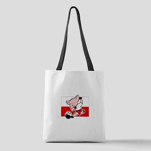 poland-soccer-pig Polyester Tote Bag