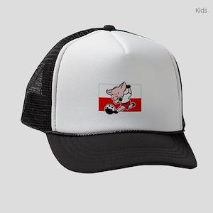poland-soccer-pig Kids Trucker hat