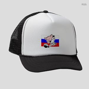 russia-soccer-pig Kids Trucker hat