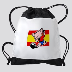 spain-soccer-pig Drawstring Bag