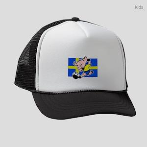 sweden-soccer-pig Kids Trucker hat
