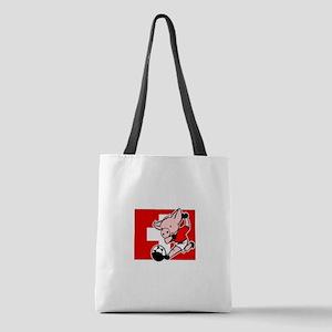 switzerland-soccer-pig Polyester Tote Bag