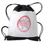 FIN-cute-flying-pig-TRANS Drawstring Bag