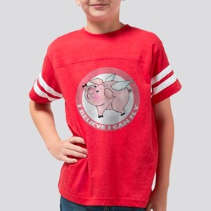 FIN-cute-flying-pig-TRANS Youth Football Shirt