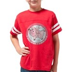 FIN-cute-flying-pig-TRANS Youth Football Shirt