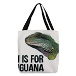 I Is for Iguana Polyester Tote Bag