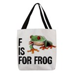 f-is-for-frog-10x10 Polyester Tote Bag
