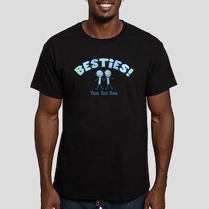 CUSTOM TEXT Besties (blue) Men's Fitted T-Shirt (d