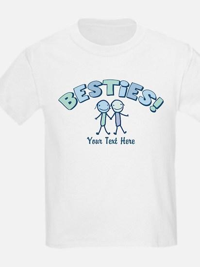 CUSTOM TEXT Besties (blue) T-Shirt