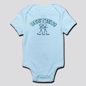 CUSTOM TEXT Besties (blue) Infant Bodysuit