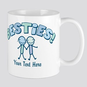 CUSTOM TEXT Besties (blue) Mug