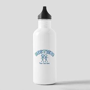 CUSTOM TEXT Besties (blue) Stainless Water Bottle