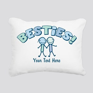 CUSTOM TEXT Besties (blue) Rectangular Canvas Pill