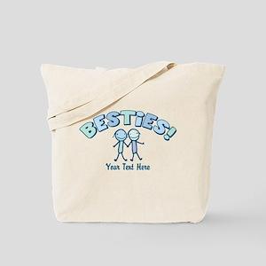 CUSTOM TEXT Besties (blue) Tote Bag