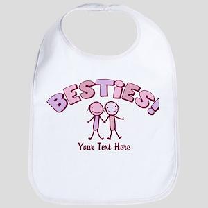 CUSTOM TEXT Besties (pink) Bib