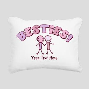 CUSTOM TEXT Besties (pink) Rectangular Canvas Pill
